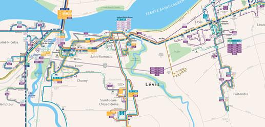 La Société de transport de Lévis vous présente sa carte réseau, édition 2019-2020. | Société de ...